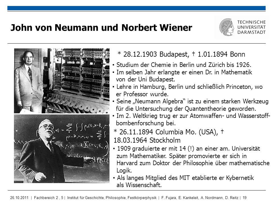 John von Neumann und Norbert Wiener