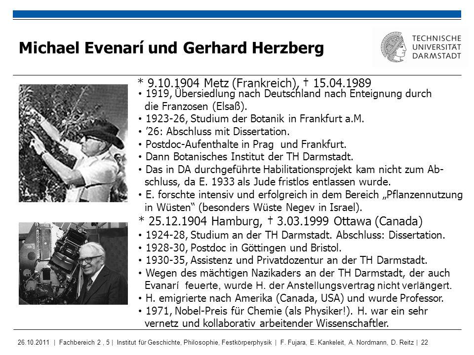 Michael Evenarí und Gerhard Herzberg