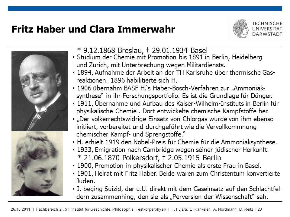 Fritz Haber und Clara Immerwahr