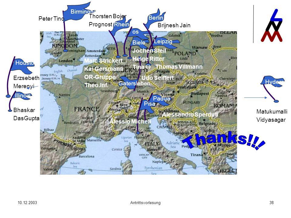 Thanks!!! Birmingham Berlin Thorsten Bojer Prognost Peter Tino Rheine