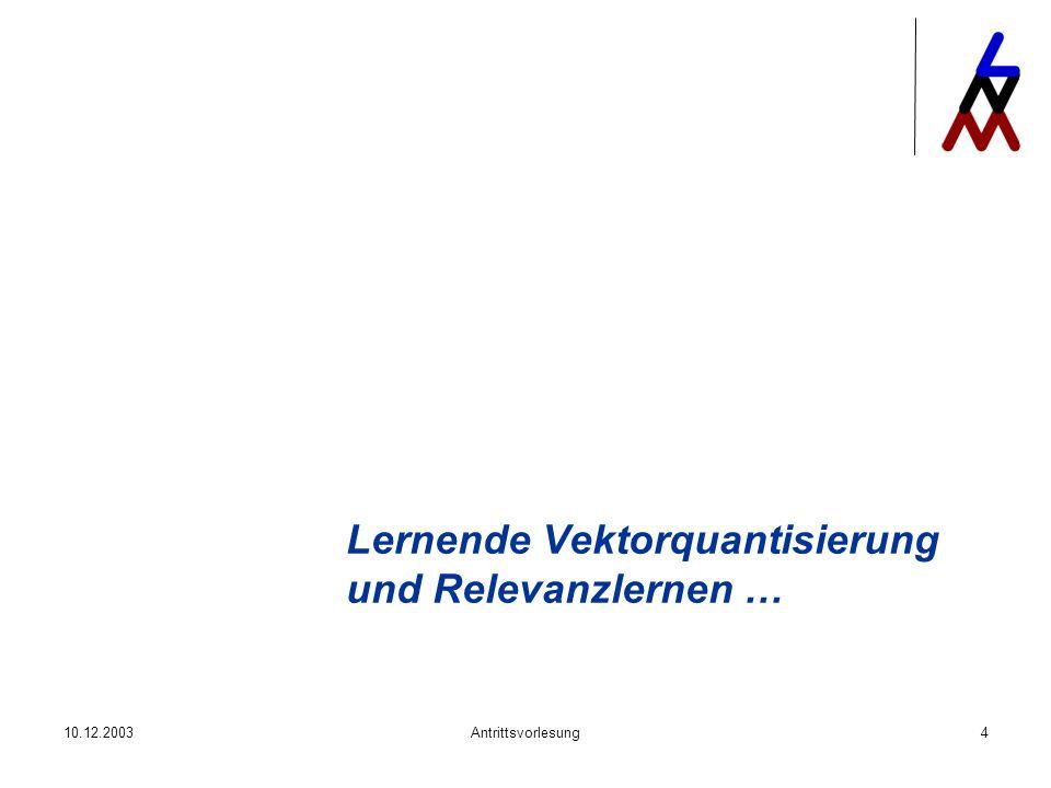 Lernende Vektorquantisierung und Relevanzlernen …