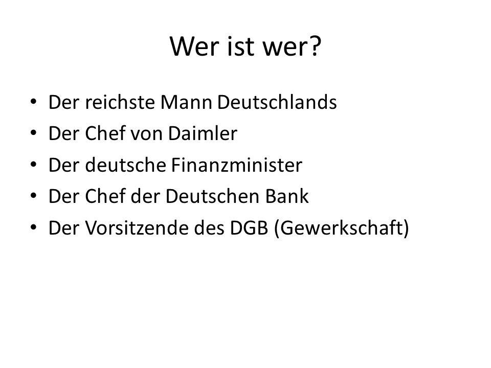 Wer ist wer Der reichste Mann Deutschlands Der Chef von Daimler