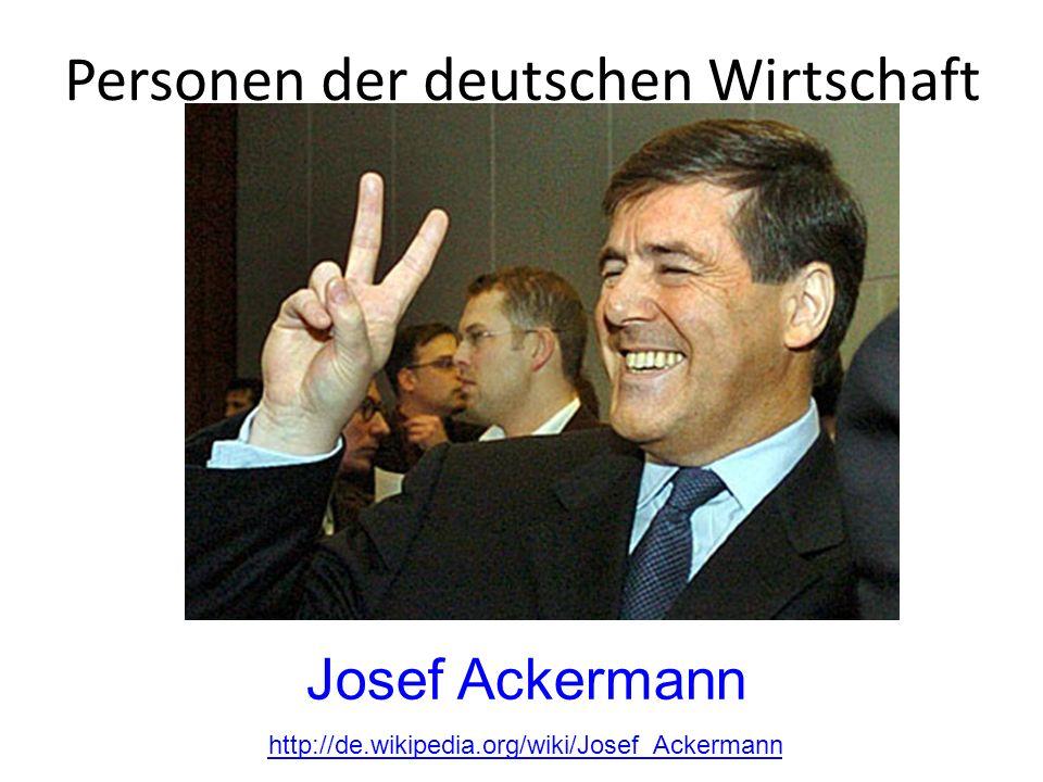 Personen der deutschen Wirtschaft
