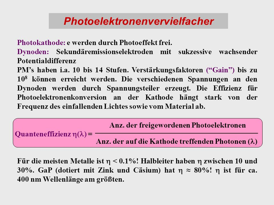 Photoelektronenvervielfacher