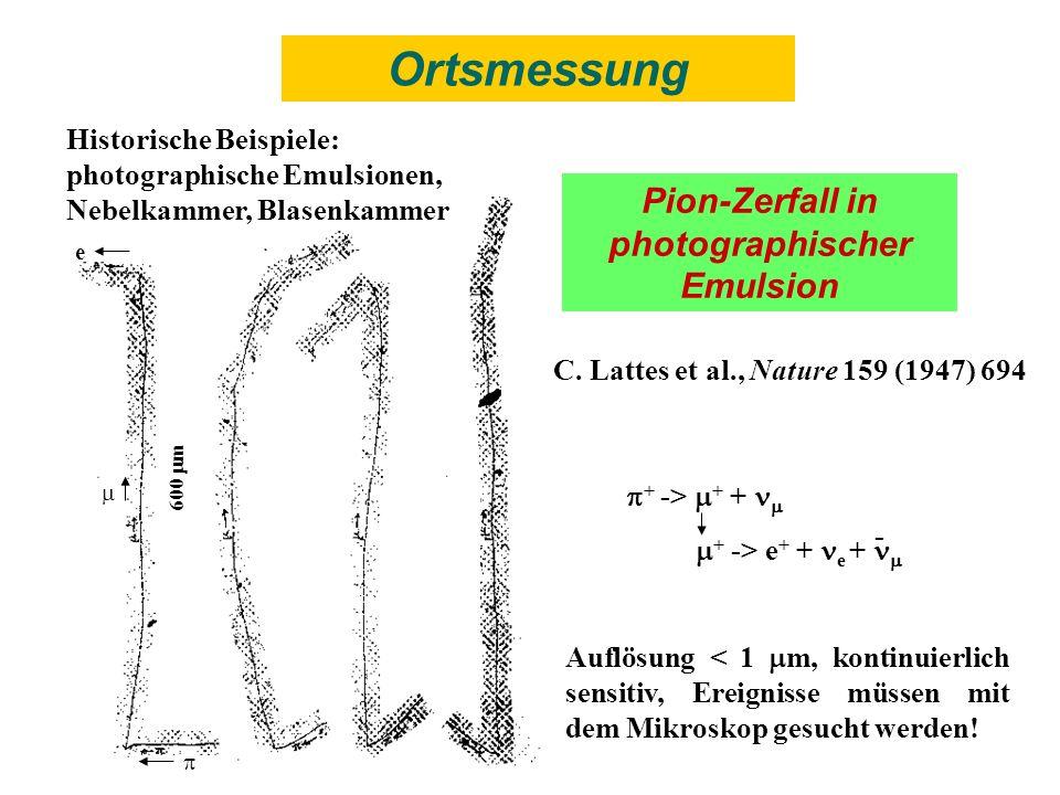 Pion-Zerfall in photographischer Emulsion