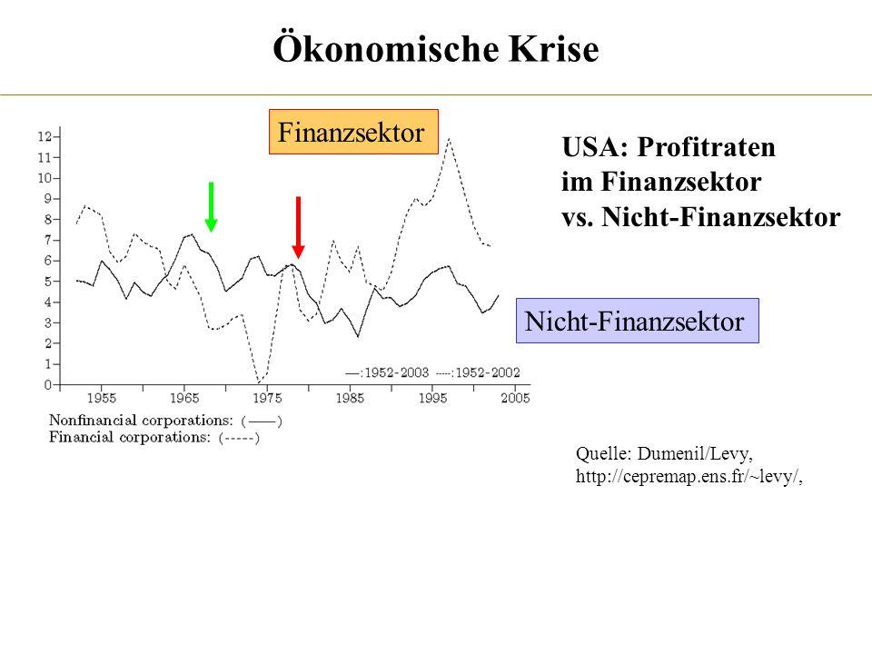 Ökonomische Krise Finanzsektor USA: Profitraten im Finanzsektor