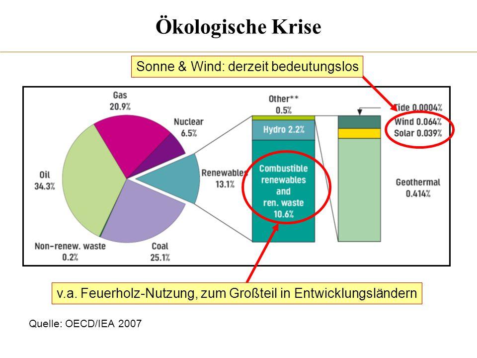 Ökologische Krise Sonne & Wind: derzeit bedeutungslos