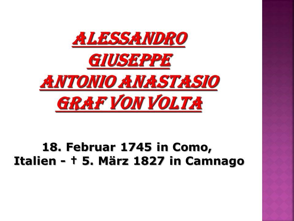 Italien - † 5. März 1827 in Camnago