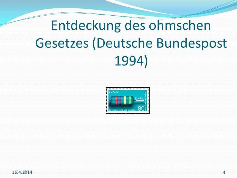 Entdeckung des ohmschen Gesetzes (Deutsche Bundespost 1994)