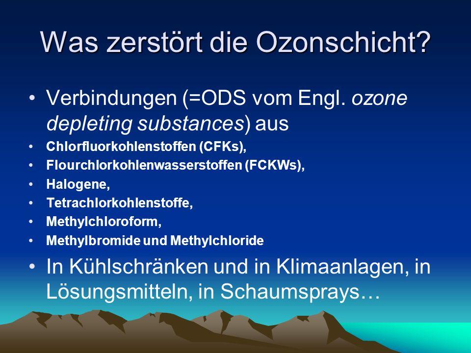 Was zerstört die Ozonschicht