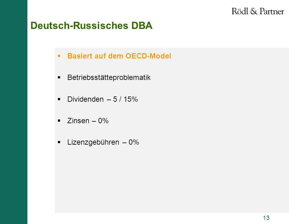 Deutsch-Russisches DBA