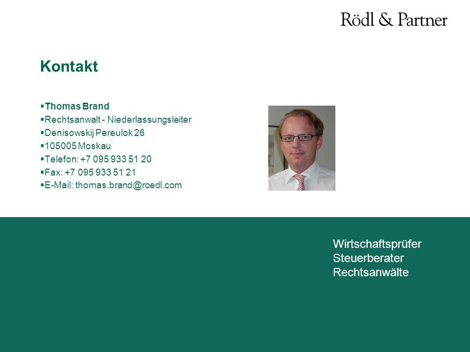 Kontakt Thomas Brand Rechtsanwalt - Niederlassungsleiter