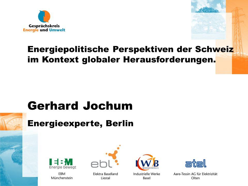 Energiepolitische Perspektiven der Schweiz im Kontext globaler Herausforderungen.