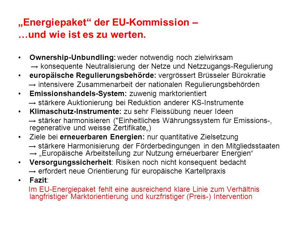 """""""Energiepaket der EU-Kommission – …und wie ist es zu werten."""