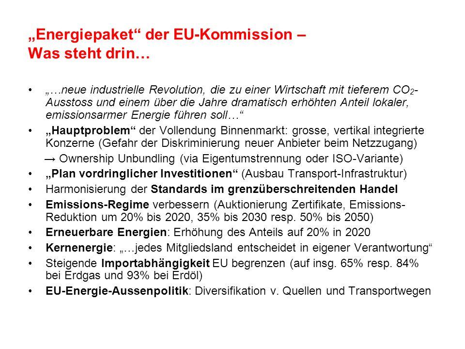 """""""Energiepaket der EU-Kommission – Was steht drin…"""