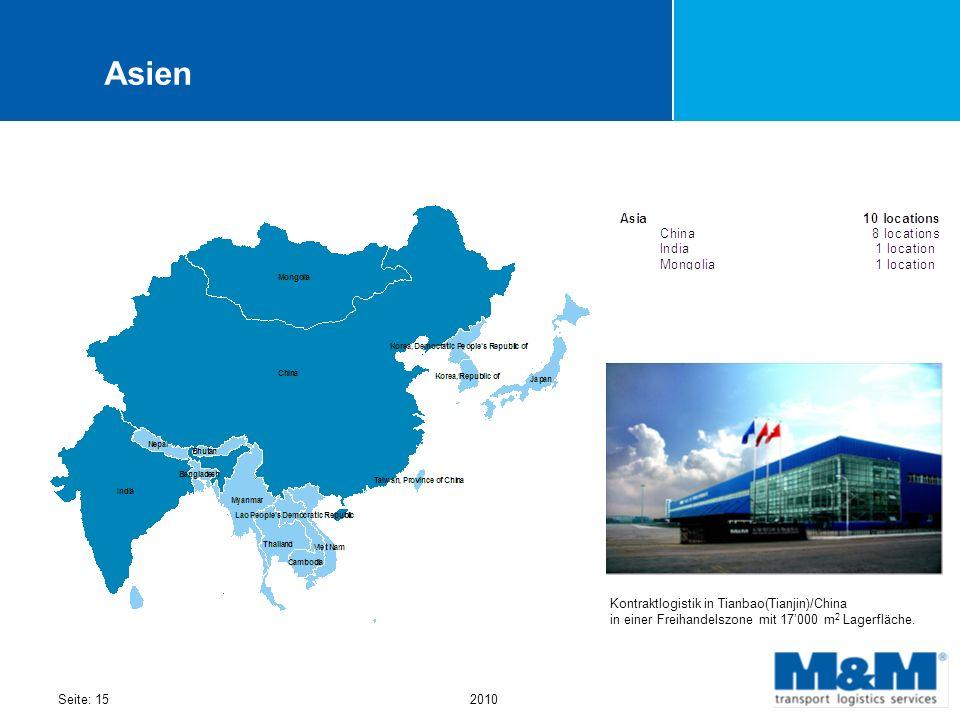Asien Kontraktlogistik in Tianbao(Tianjin)/China in einer Freihandelszone mit 17'000 m2 Lagerfläche.