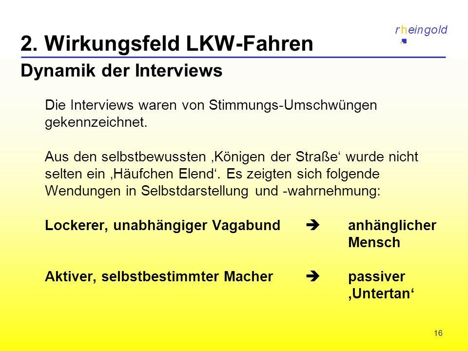 2. Wirkungsfeld LKW-Fahren