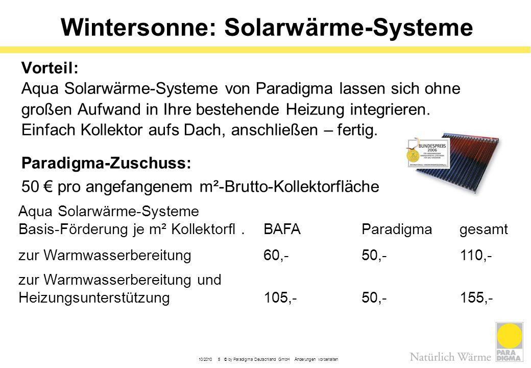 Wintersonne: Solarwärme-Systeme