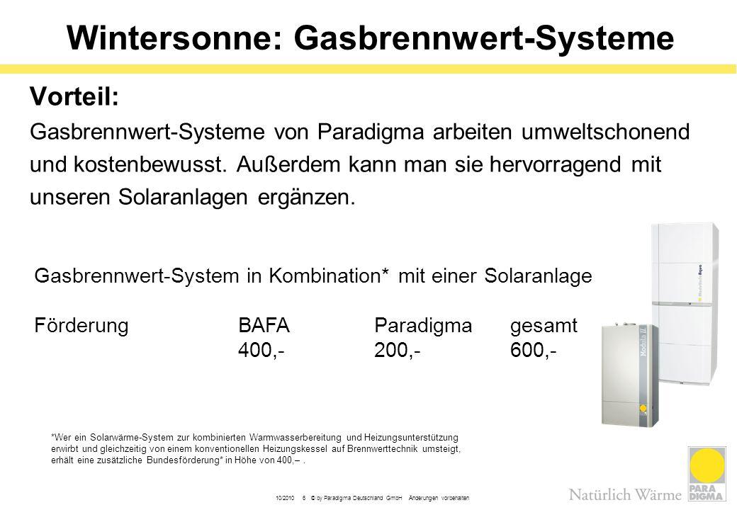 Wintersonne: Gasbrennwert-Systeme