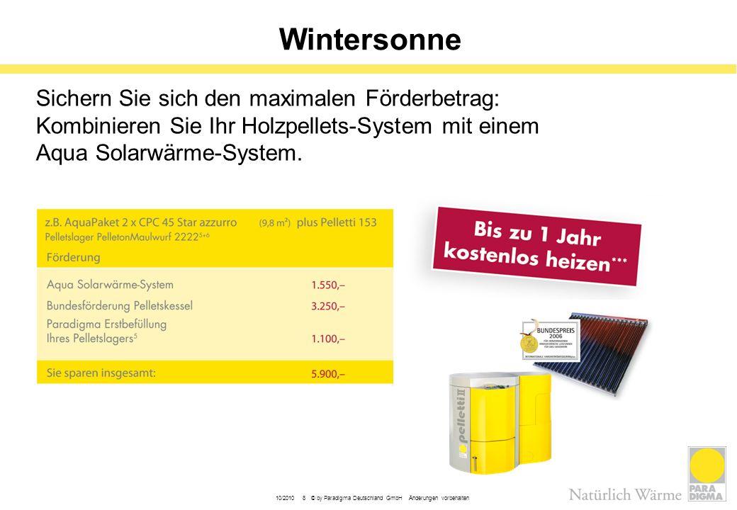 Wintersonne Sichern Sie sich den maximalen Förderbetrag: Kombinieren Sie Ihr Holzpellets-System mit einem Aqua Solarwärme-System.
