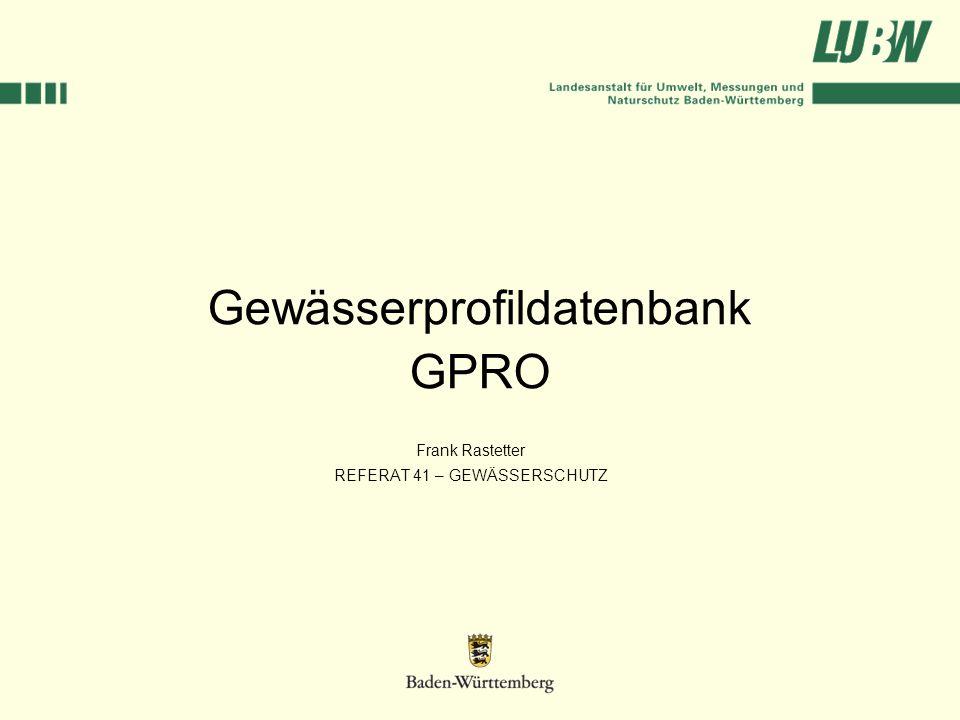 Gewässerprofildatenbank GPRO