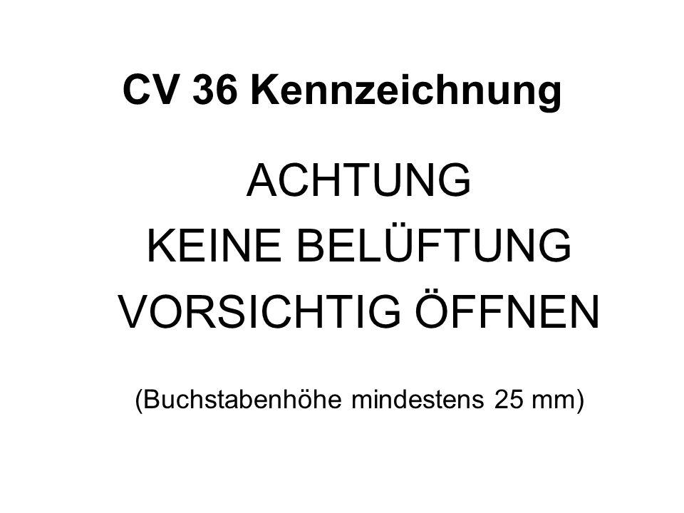 (Buchstabenhöhe mindestens 25 mm)