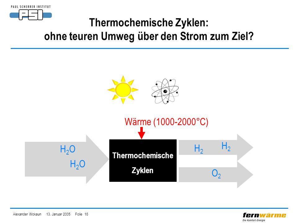 Thermochemische Zyklen: ohne teuren Umweg über den Strom zum Ziel