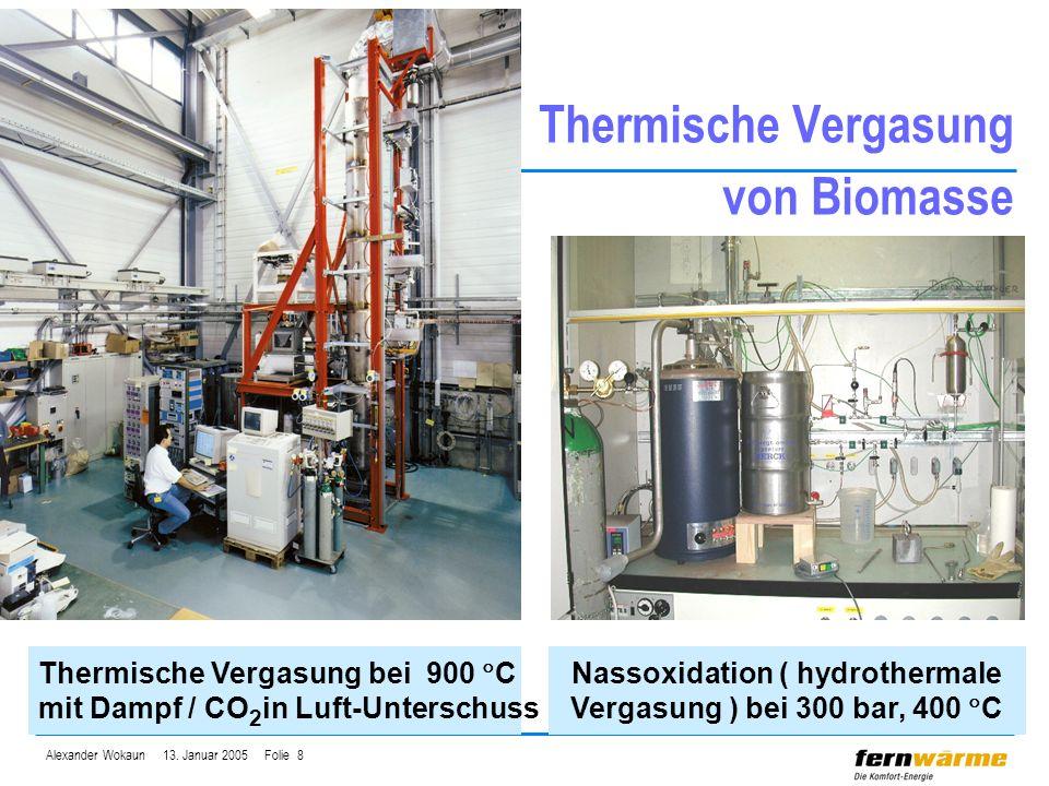 Thermische Vergasung von Biomasse