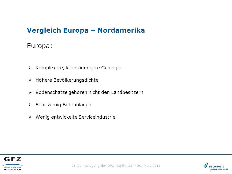 Vergleich Europa – Nordamerika Europa:
