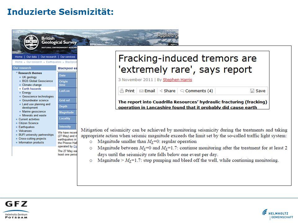 Induzierte Seismizität: