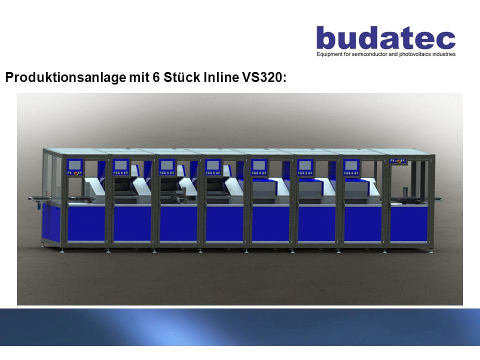 Produktionsanlage mit 6 Stück Inline VS320:
