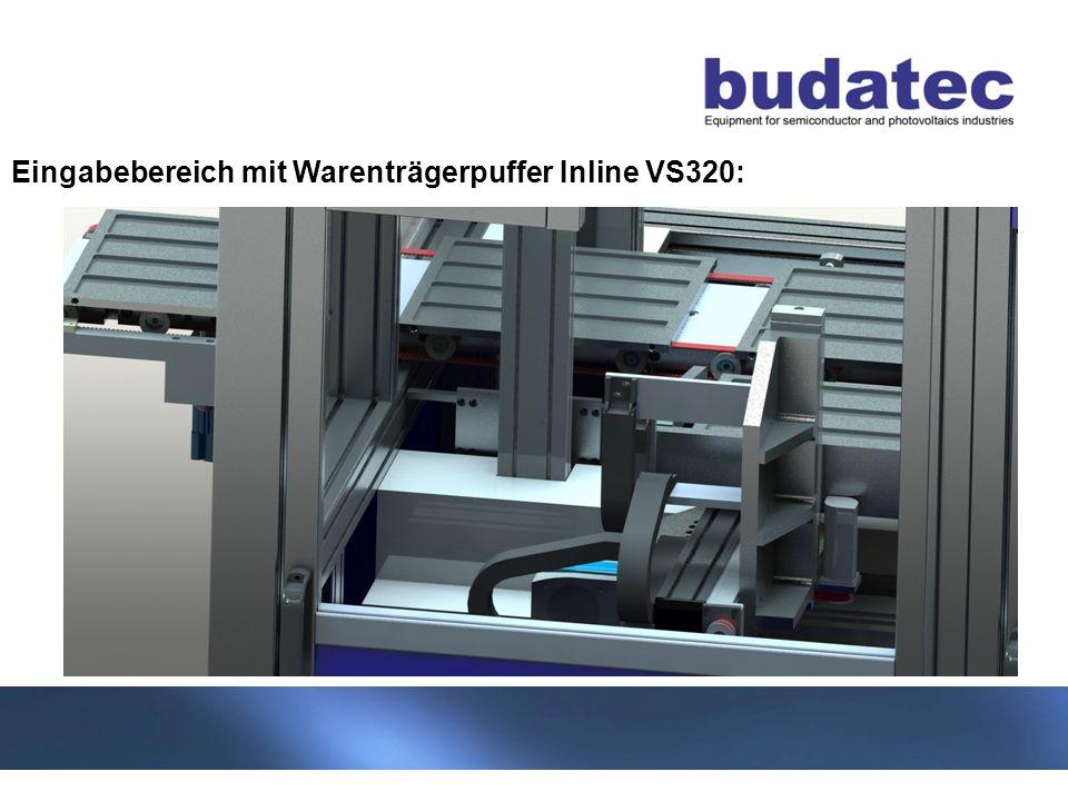 Eingabebereich mit Warenträgerpuffer Inline VS320: