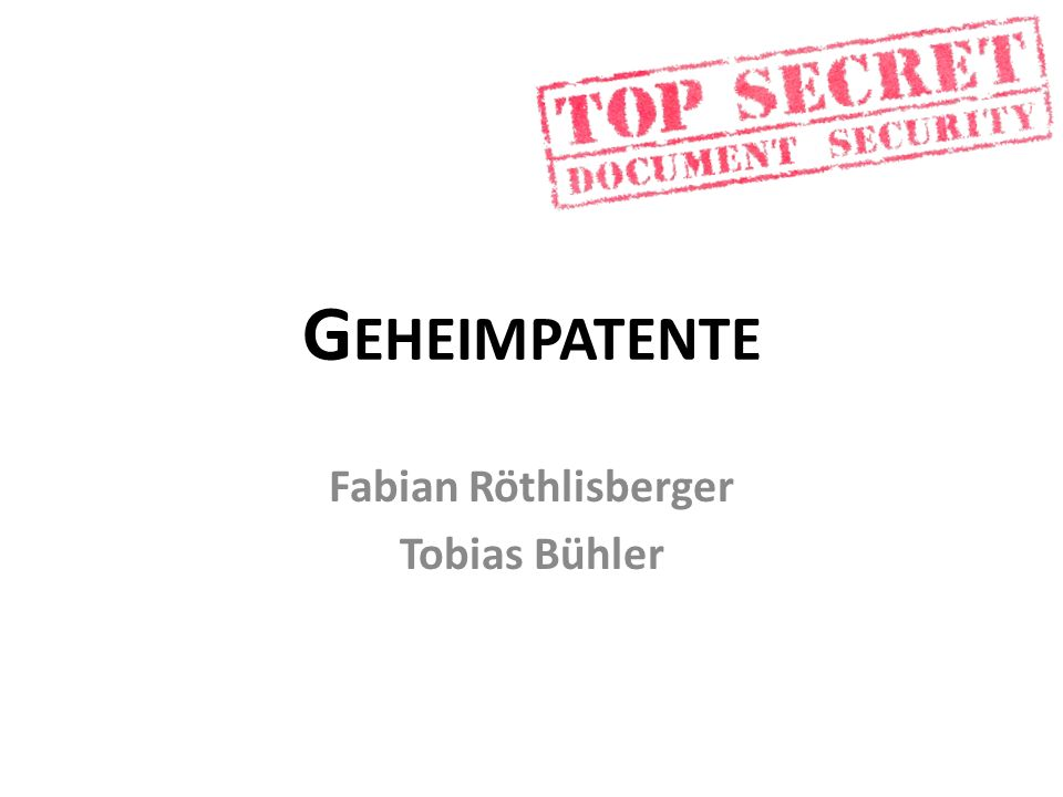 Fabian Röthlisberger Tobias Bühler