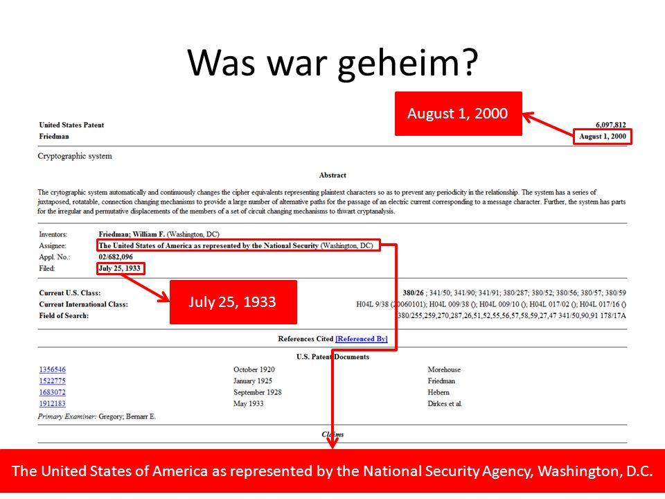 Was war geheim August 1, 2000 July 25, 1933