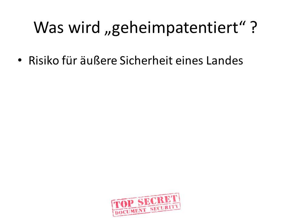 """Was wird """"geheimpatentiert"""