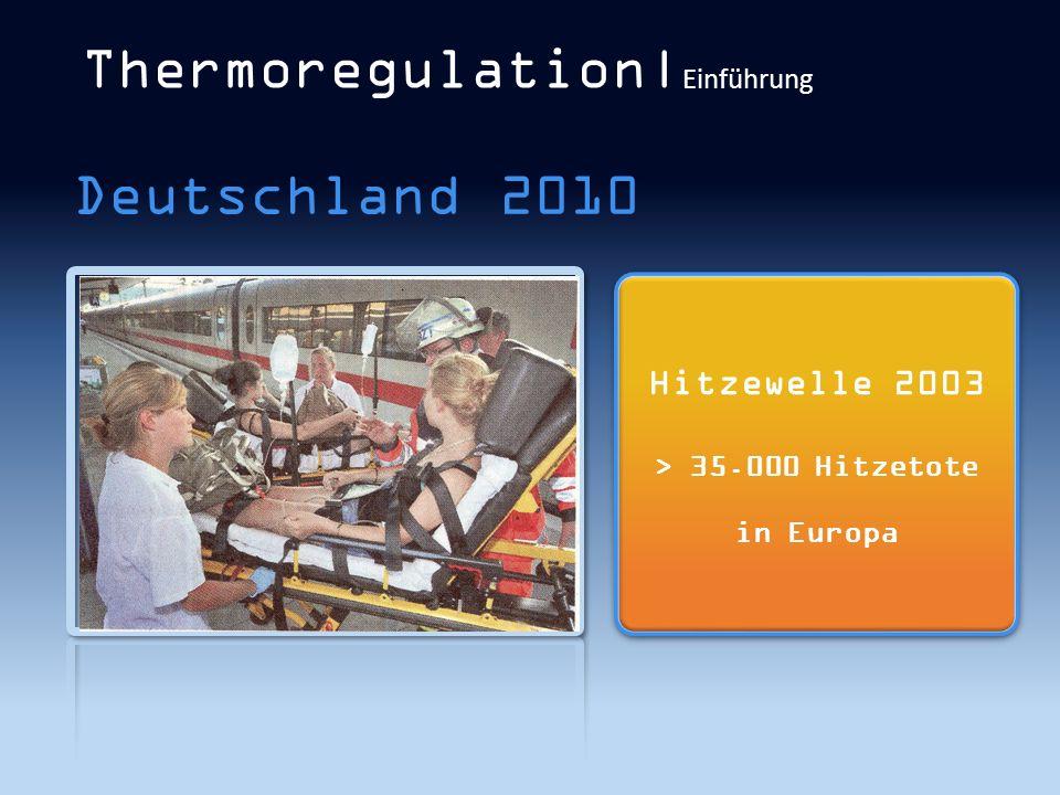 Thermoregulation|Einführung
