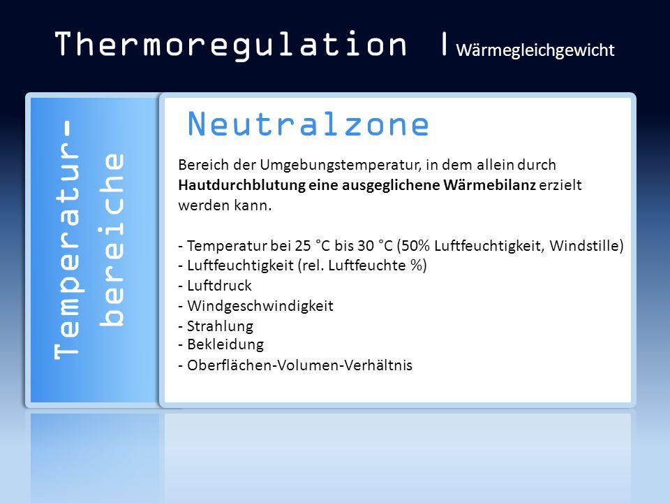 Thermoregulation |Wärmegleichgewicht