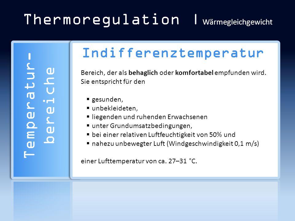 Thermoregulation | Wärmegleichgewicht