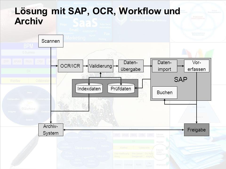 Lösung mit SAP, OCR, Workflow und Archiv