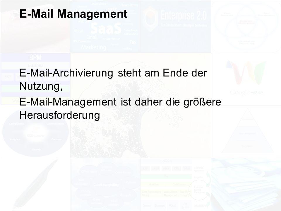 E-Mail Management E-Mail-Archivierung steht am Ende der Nutzung,