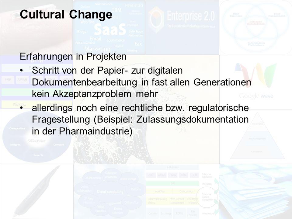 Cultural Change Erfahrungen in Projekten