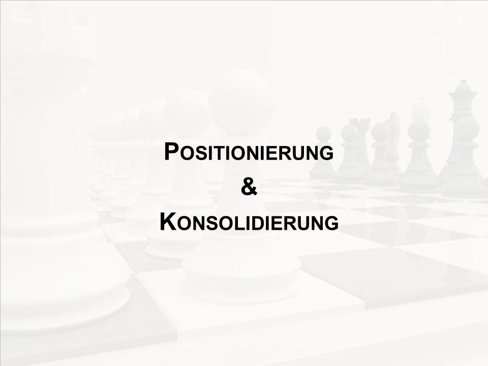 Positionierung & Konsolidierung