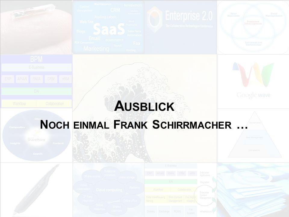 Noch einmal Frank Schirrmacher …