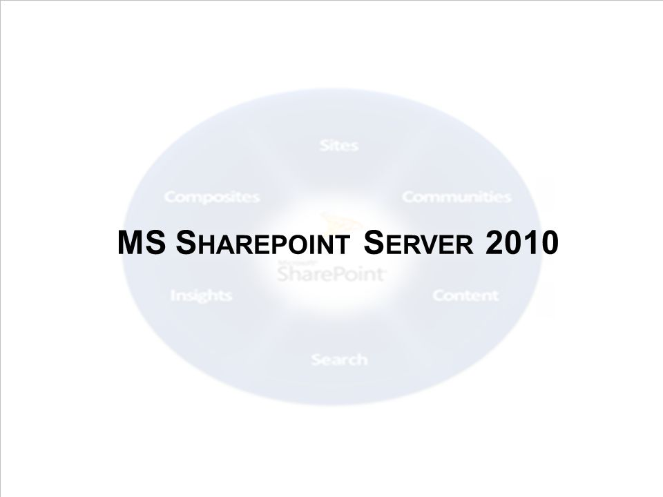 MS Sharepoint Server 2010