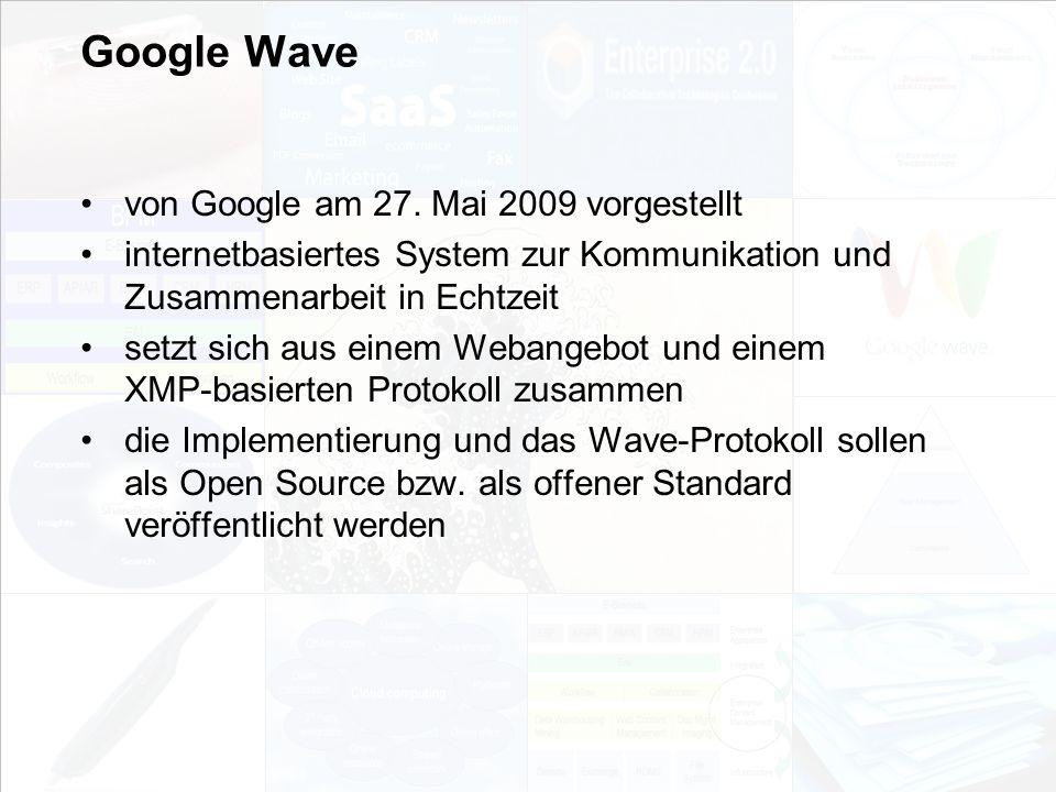 Google Wave von Google am 27. Mai 2009 vorgestellt