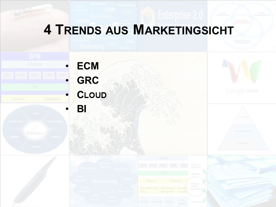 4 Trends aus Marketingsicht
