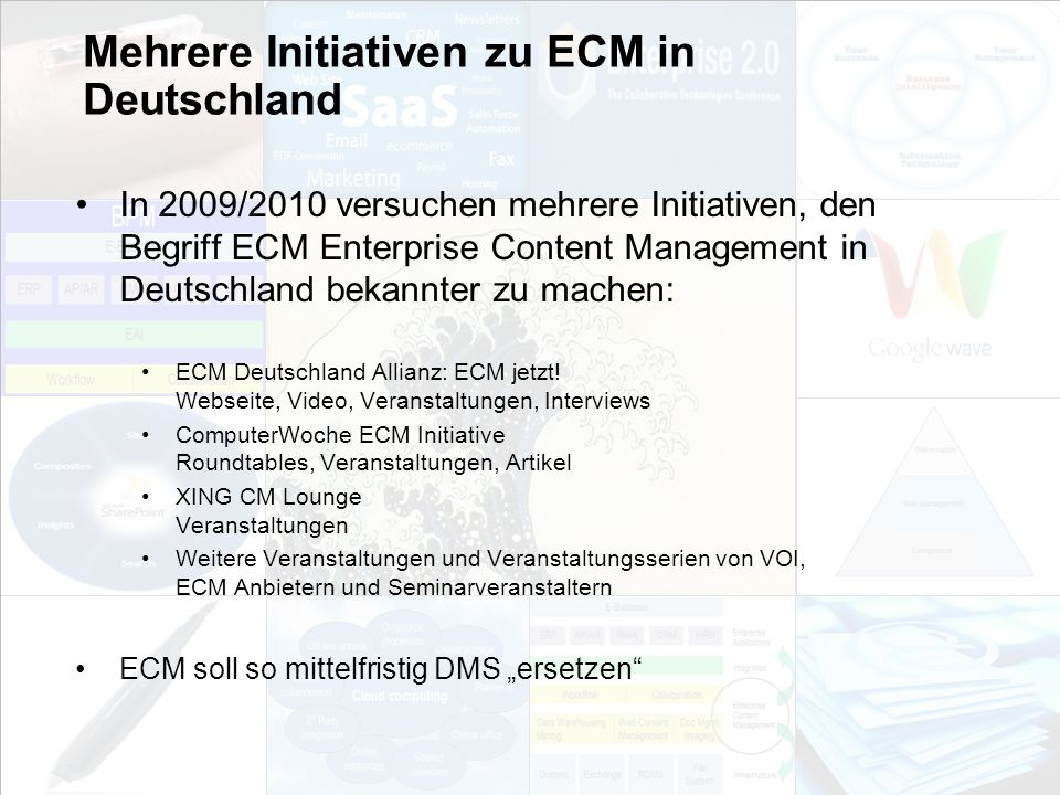 Mehrere Initiativen zu ECM in Deutschland