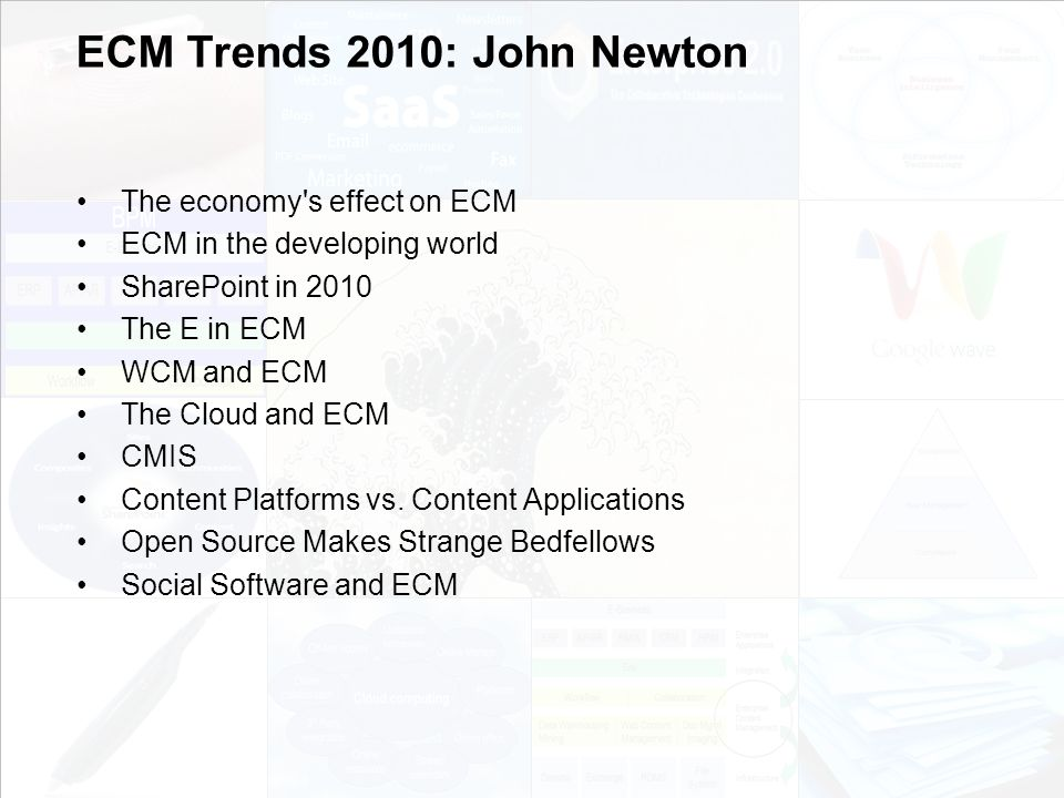 ECM Trends 2010: John Newton