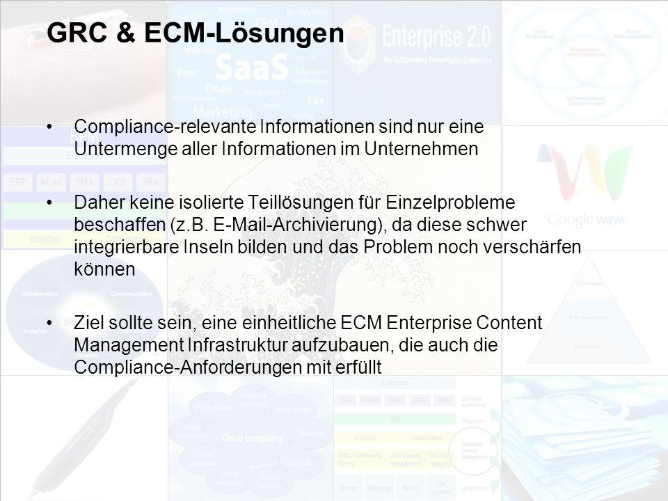 GRC & ECM-Lösungen Compliance-relevante Informationen sind nur eine Untermenge aller Informationen im Unternehmen.