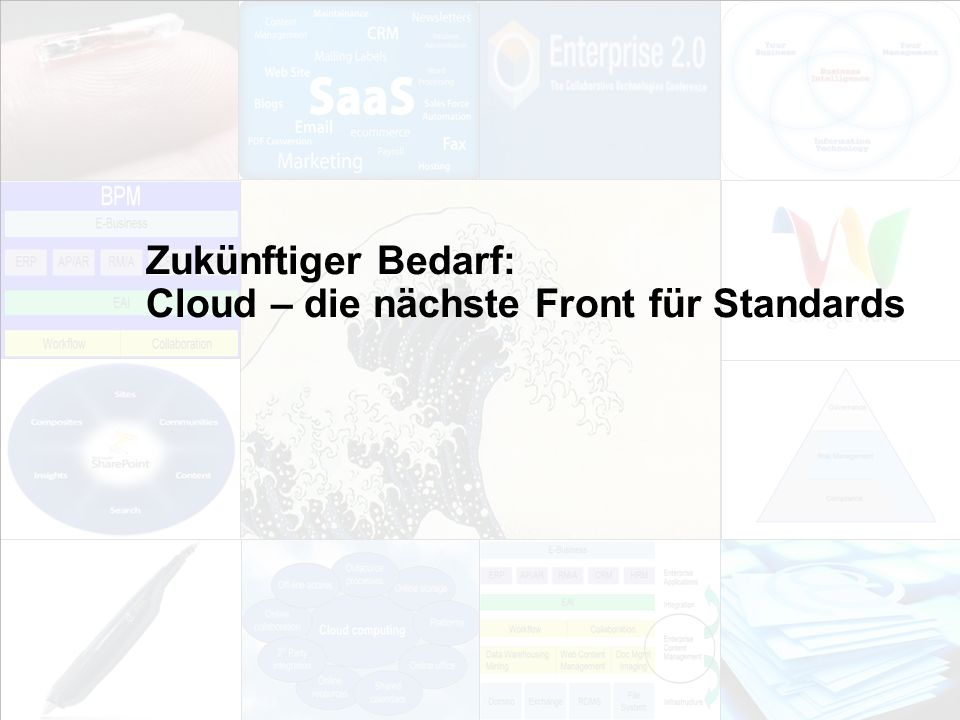 Zukünftiger Bedarf: Cloud – die nächste Front für Standards